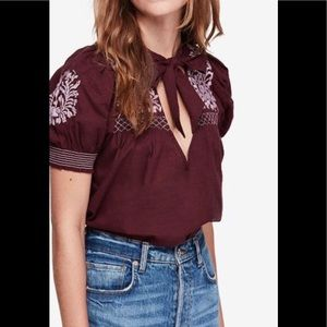 Free people dreaming about you top.Nwt. Retail 108